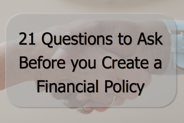 Create a Financial Policy for your Practice www.NPBusiness.ORG