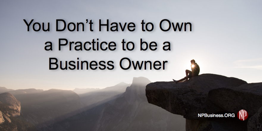 NPBusiness.ORG. NPs can be business owners without owning a practice.