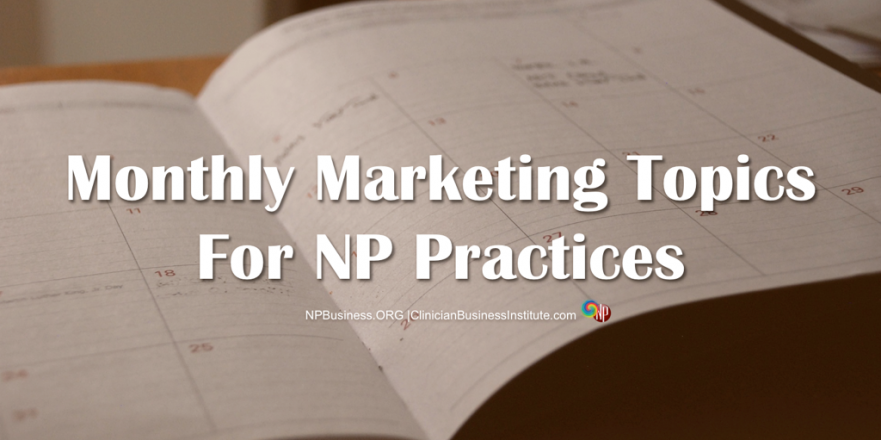 Monthly Marketing on NPBusiness.ORG