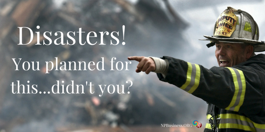 Disaster Planning on NPBusiness.ORG