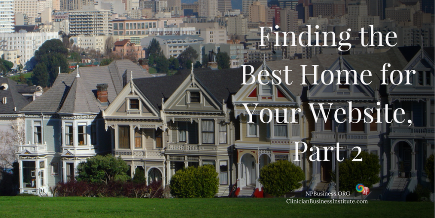 Finding the Best Home for Your Website on NPBusiness.ORG